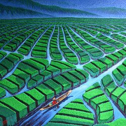 River Paddy_Soe Soe_180x122cm_Acrylic on Canvas