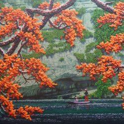 Peaceful River_Soe Soe_150x100cm_Acrylic on Canvas