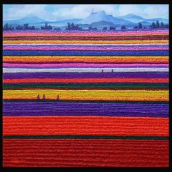 Soe-Soe_Colourful-Path-II_122x122cm_Acrylic-on-Canvas_2016