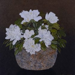 蕊蕊玉肌雪<br> Classical White <br> 60 x 73 cm<br> Oil on Canvas <br> 2016