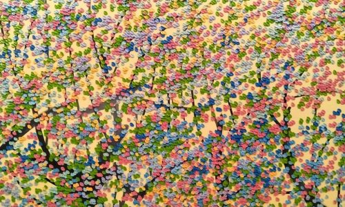 SOLD<br> Romance Spring <br> 120 x 100 cm <br> Oil on Canvas