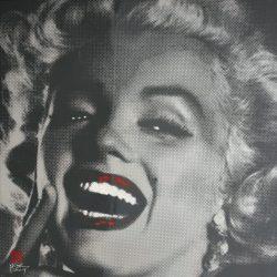 Marilyn Monroe Black Series #1 <br> 100x100cm<br> Acrylic on Canvas<br>
